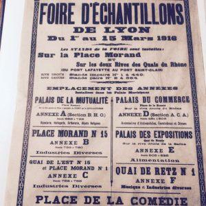 Affiche de la 1ère foire aux échantillons de Lyon © Archives municipales de Lyon