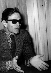 Conférence de presse de Pier Paolo Pasolini à Paris le 3 Février 1969 - Chomarat MS 846/XV,15 © Bibliothèque municipale de Lyon
