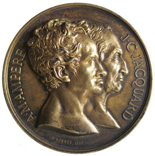 Médaille de la Société des sciences industrielles Par Guillaume BONNET (Argent, ø 55 mm) ©Collection privée