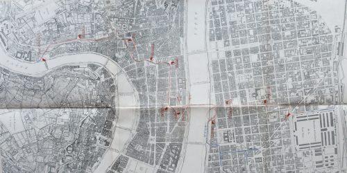 Plan annexé à l'avant-projet de mise en souterrain des tramways - OTL 1931