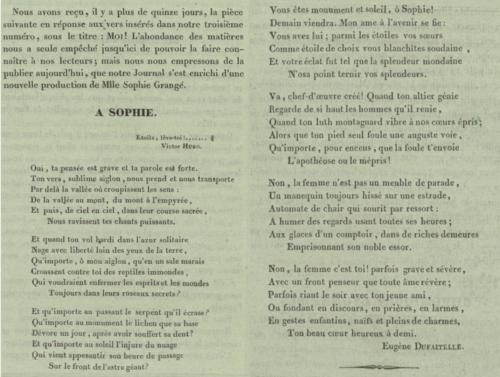 05b3061fd5a789 PERSONNAGE Sophie Grangé   la femme libre de la poésie romantique lyonnaise